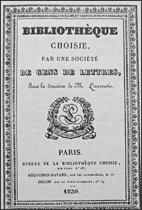 Bibliotheque choisie 1830 copie